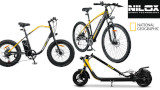 Nilox e National Geographic propongono le loro e-bike, un monopattino ed alcuni accessori
