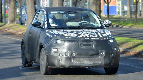 Fiat 500e foto spia