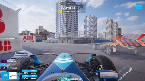 Formula E Live Ghost Racing Game