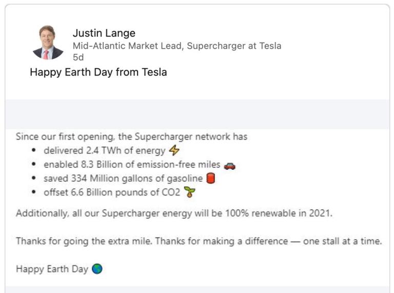 Justin Lange - Tesla