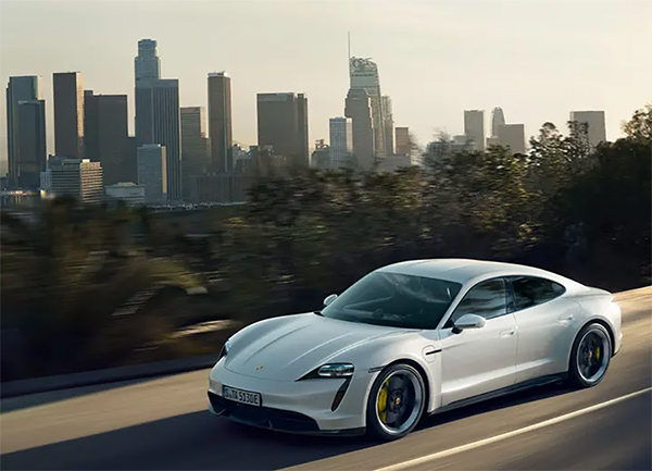 Porsche Taycan USA road