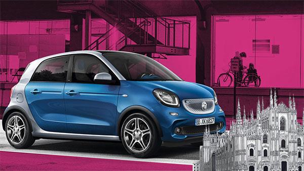 Car2go, sbarcano a Milano le Forfour: le Smart a quattro posti