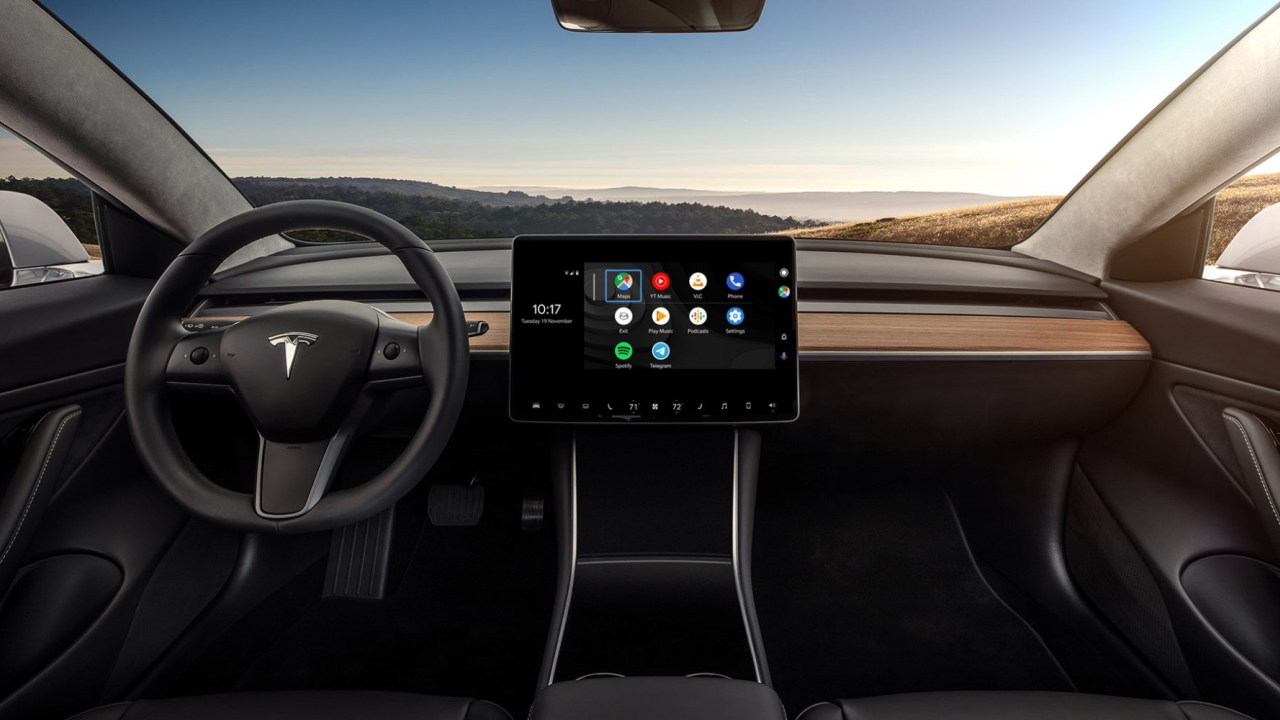 Android Auto su Tesla